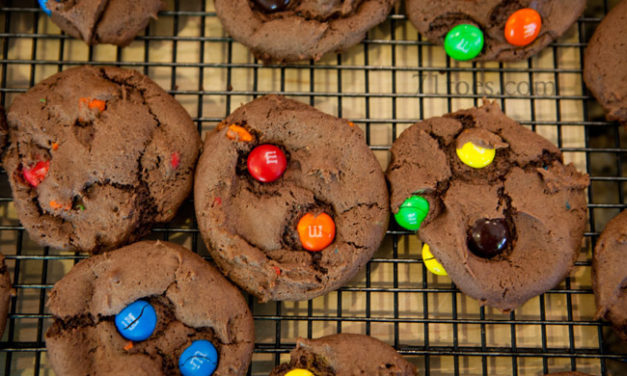 Easy-Peasy Chocolate M&M Cookies
